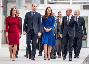 Duke and Duchess at McLaren opening