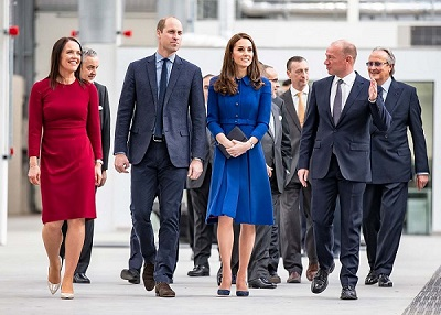 Duke and Duchess at McLaren opening